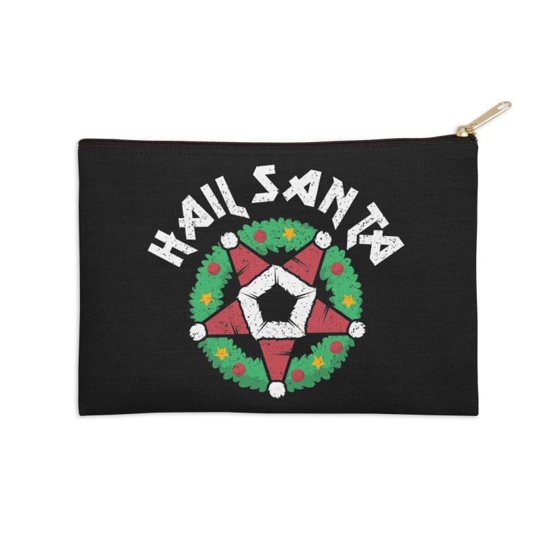 Hail Santa Accessories Zip Pouch by Ninth Street Design's Artist Shop