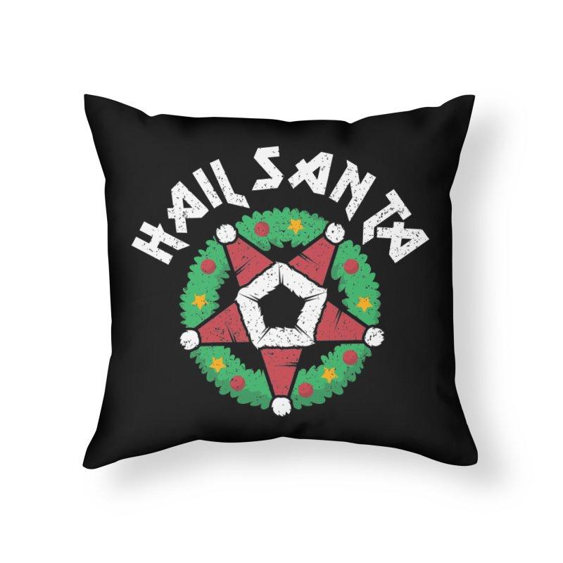 Hail Santa Home Throw Pillow by Ninth Street Design's Artist Shop