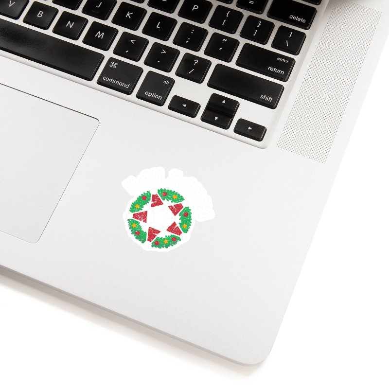 Hail Santa Accessories Sticker by Ninth Street Design's Artist Shop