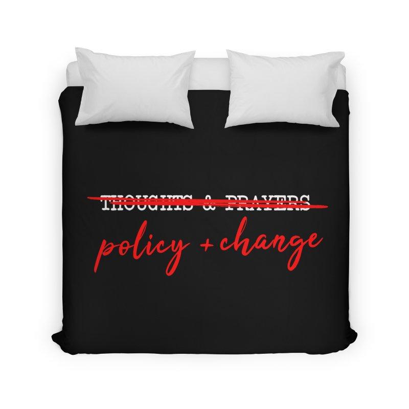 Policy + Change Home Duvet by Ninth Street Design's Artist Shop