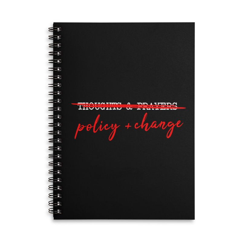 Policy + Change Accessories Lined Spiral Notebook by Ninth Street Design's Artist Shop