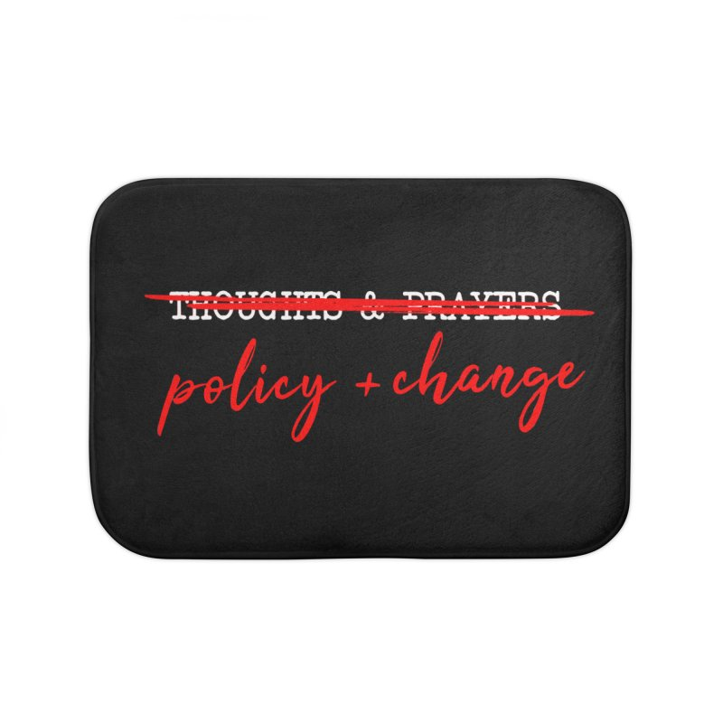 Policy + Change Home Bath Mat by Ninth Street Design's Artist Shop