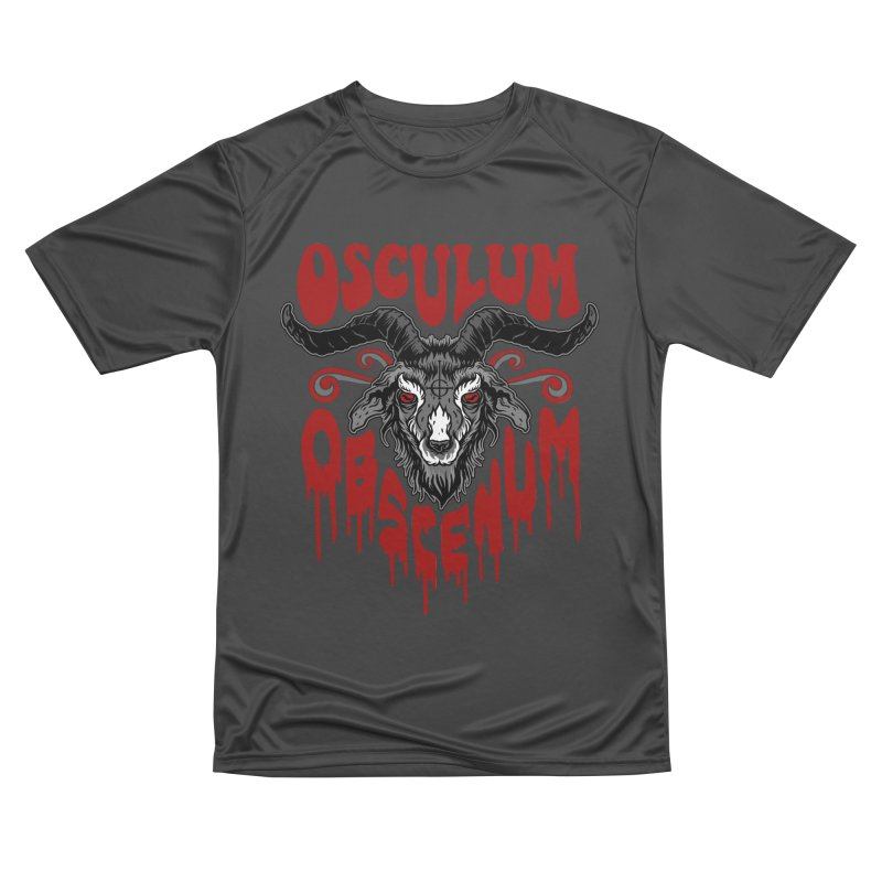 Kiss the Goat Men's Performance T-Shirt by Ninth Street Design's Artist Shop