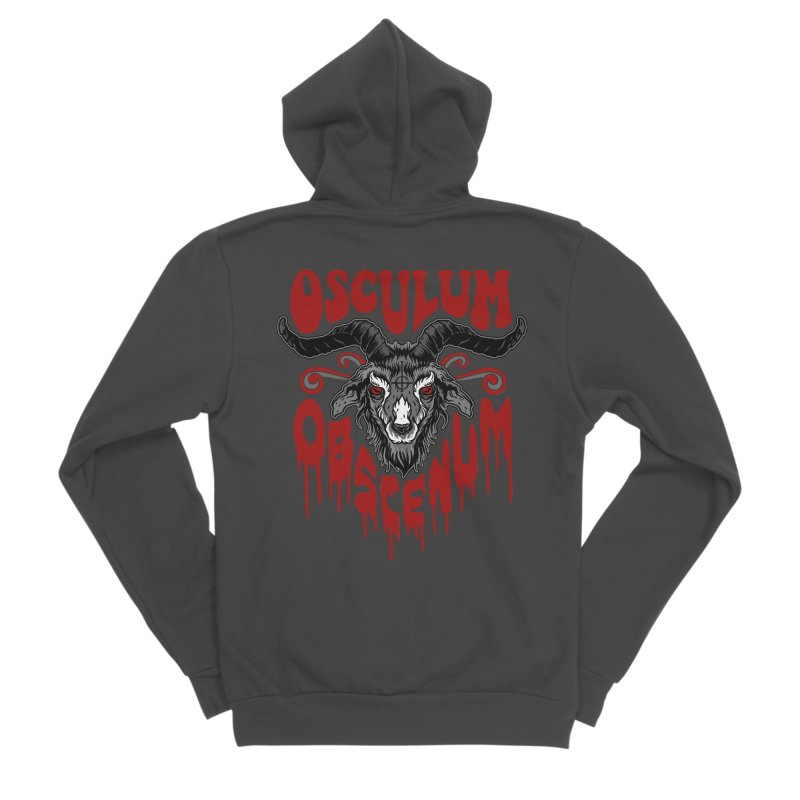 Kiss the Goat Women's Sponge Fleece Zip-Up Hoody by Ninth Street Design's Artist Shop