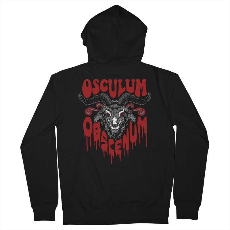 Kiss the Goat Men's French Terry Zip-Up Hoody by Ninth Street Design's Artist Shop