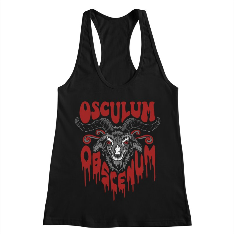 Kiss the Goat Women's Racerback Tank by Ninth Street Design's Artist Shop
