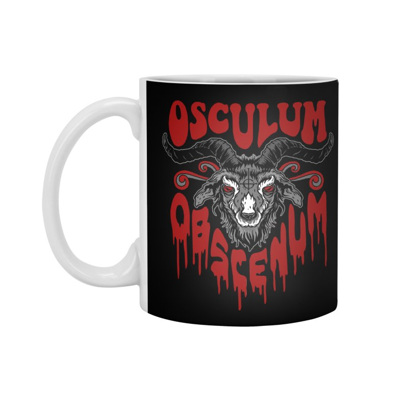 Kiss the Goat Accessories Standard Mug by Ninth Street Design's Artist Shop