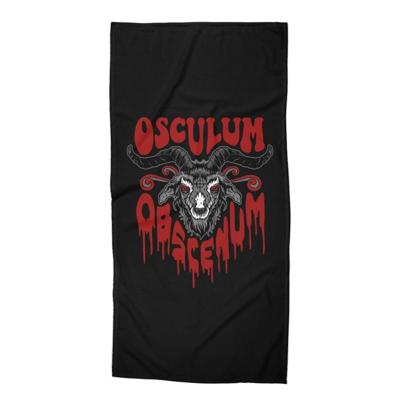 Kiss the Goat Accessories Beach Towel by Ninth Street Design's Artist Shop