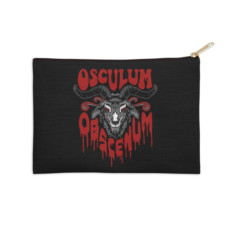 Kiss the Goat Accessories Zip Pouch by Ninth Street Design's Artist Shop