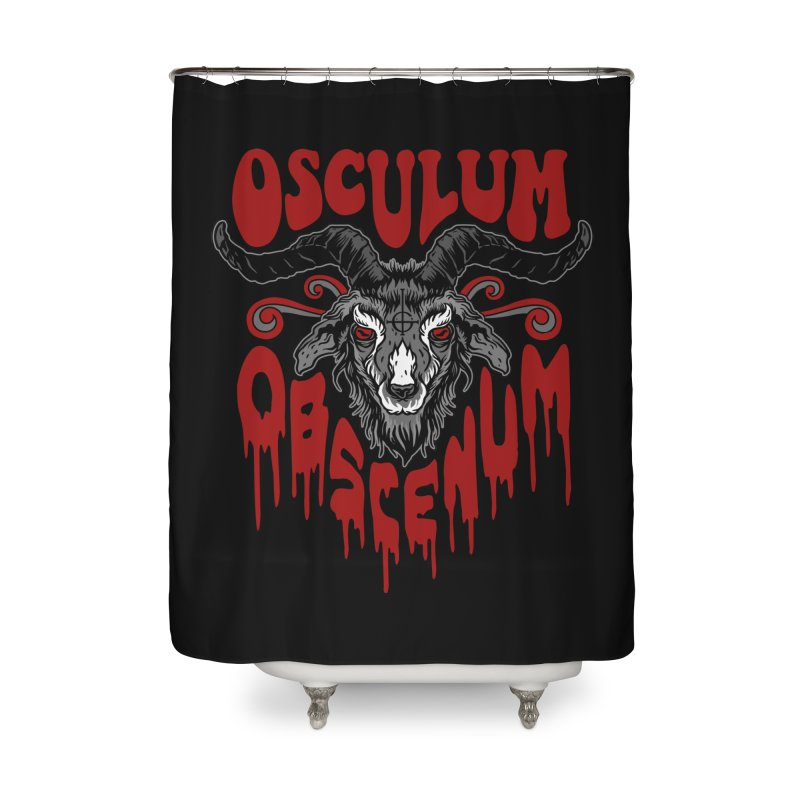 Kiss the Goat Home Shower Curtain by Ninth Street Design's Artist Shop