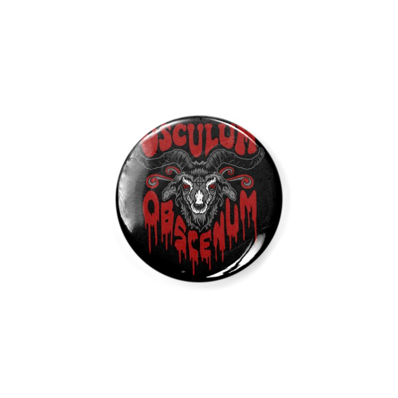 Kiss the Goat Accessories Button by Ninth Street Design's Artist Shop