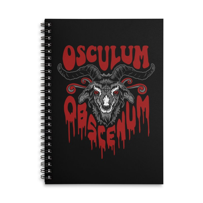 Kiss the Goat Accessories Lined Spiral Notebook by Ninth Street Design's Artist Shop