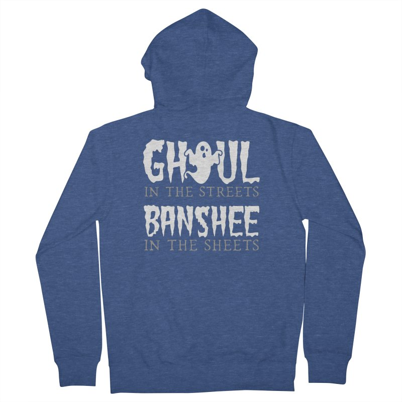 Banshee in the sheets Women's French Terry Zip-Up Hoody by Ninth Street Design's Artist Shop