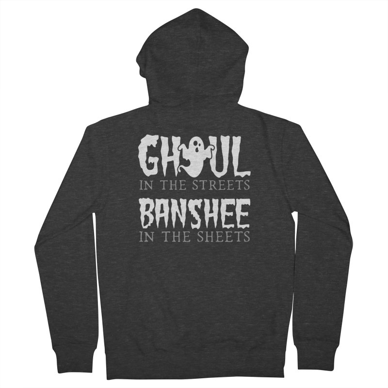 Banshee in the sheets Men's French Terry Zip-Up Hoody by Ninth Street Design's Artist Shop
