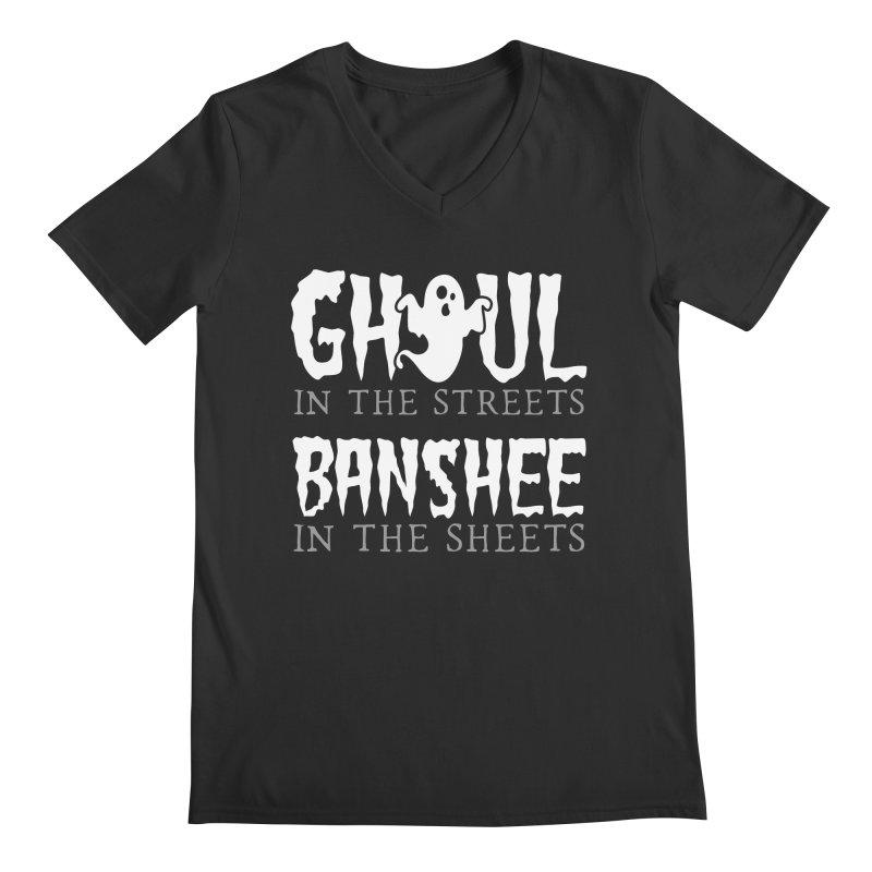 Banshee in the sheets Men's Regular V-Neck by Ninth Street Design's Artist Shop
