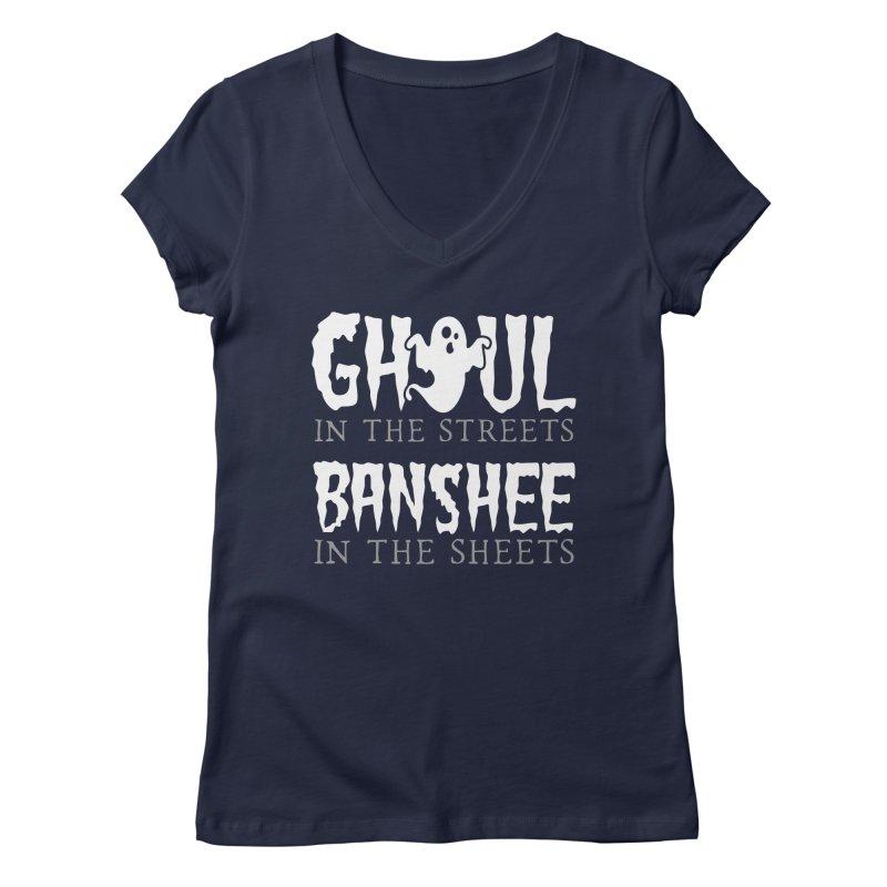 Banshee in the sheets Women's Regular V-Neck by Ninth Street Design's Artist Shop