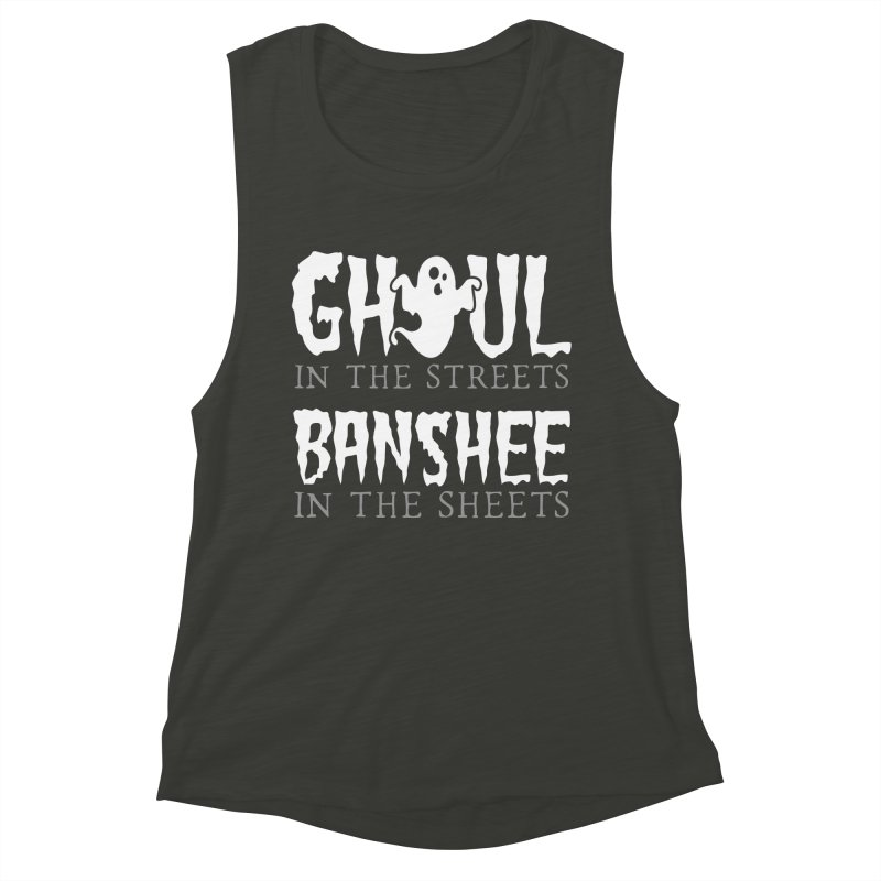 Banshee in the sheets Women's Muscle Tank by Ninth Street Design's Artist Shop