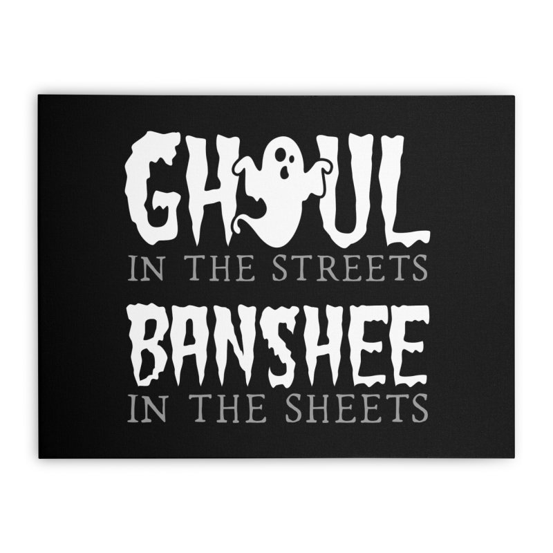 Banshee in the sheets Home Stretched Canvas by Ninth Street Design's Artist Shop