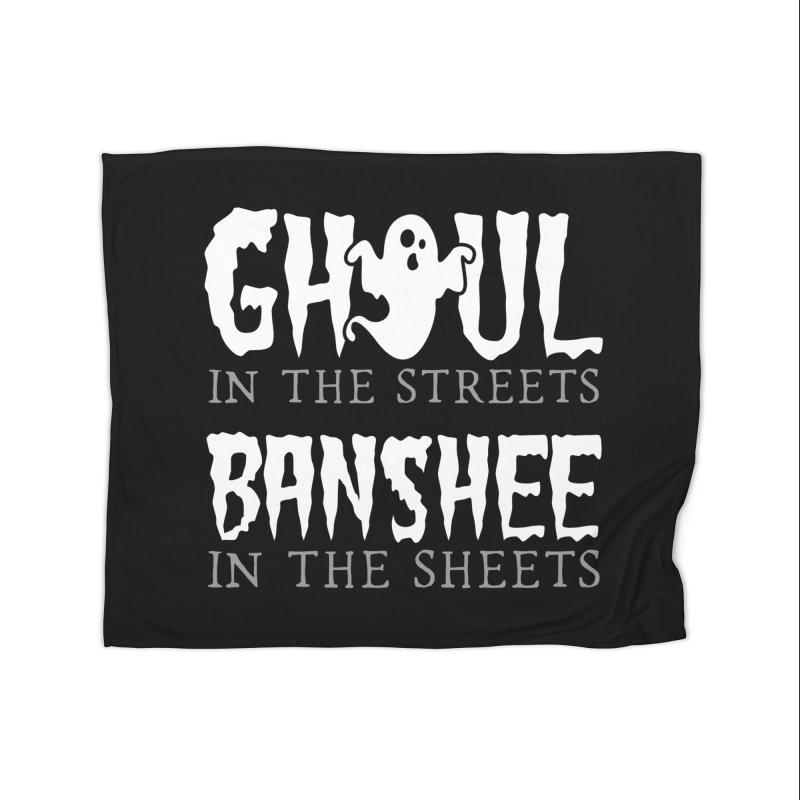 Banshee in the sheets Home Fleece Blanket Blanket by Ninth Street Design's Artist Shop