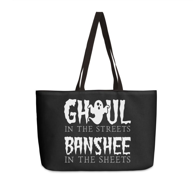 Banshee in the sheets Accessories Weekender Bag Bag by Ninth Street Design's Artist Shop