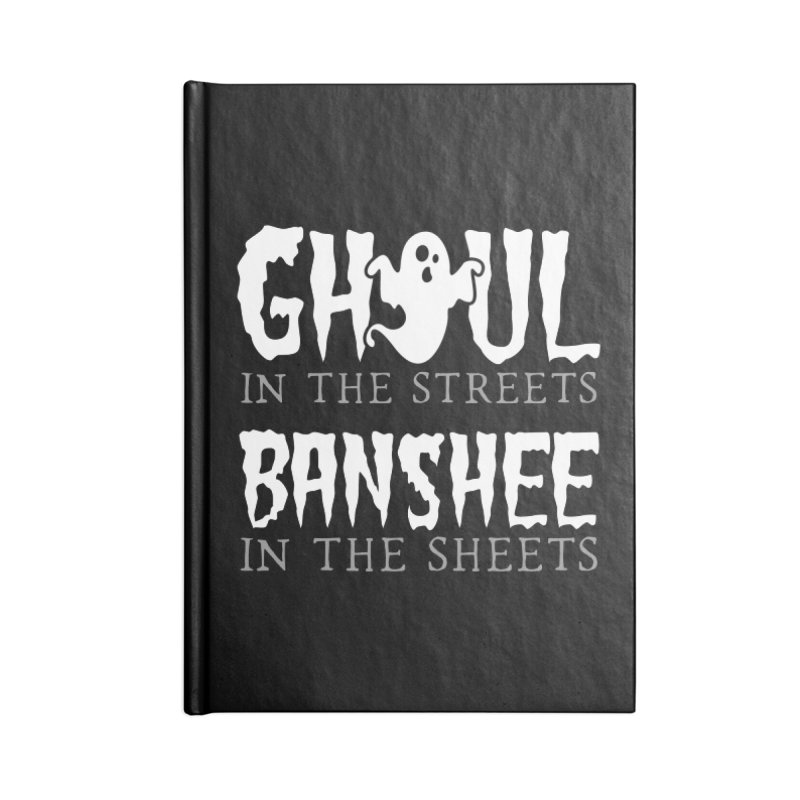 Banshee in the sheets Accessories Lined Journal Notebook by Ninth Street Design's Artist Shop