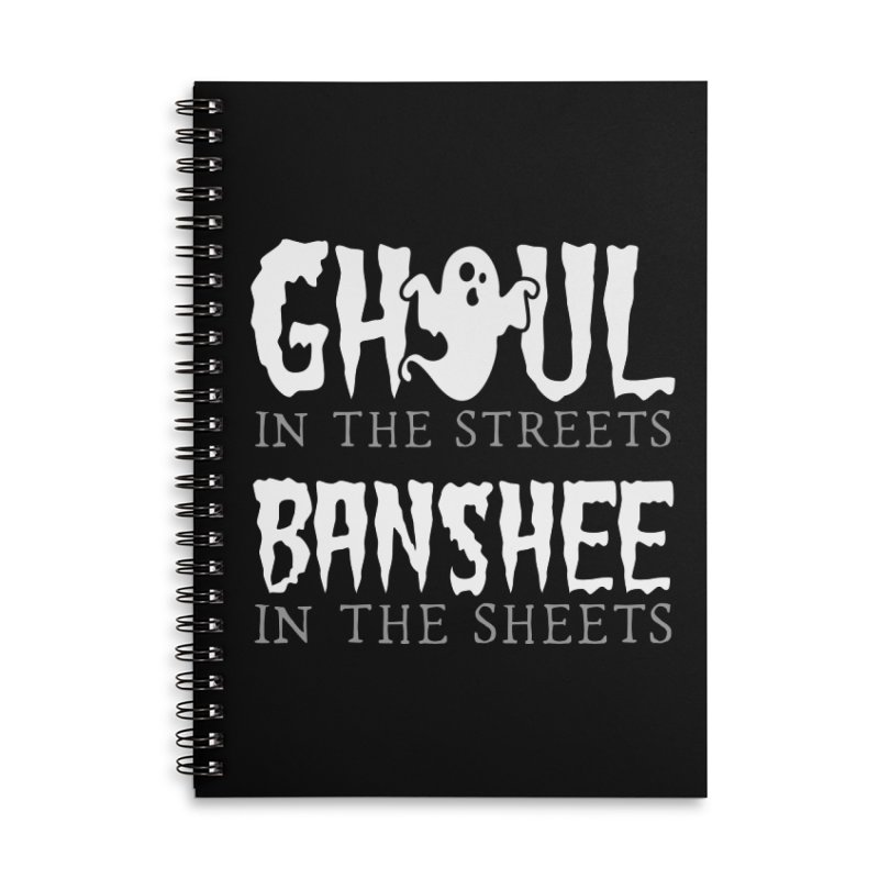 Banshee in the sheets Accessories Lined Spiral Notebook by Ninth Street Design's Artist Shop