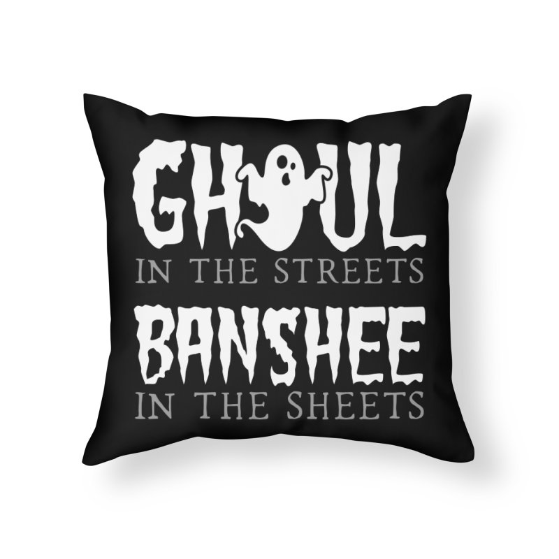 Banshee in the sheets Home Throw Pillow by Ninth Street Design's Artist Shop