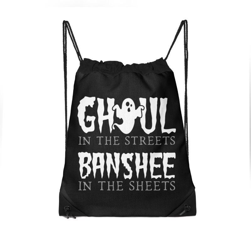 Banshee in the sheets Accessories Drawstring Bag Bag by Ninth Street Design's Artist Shop