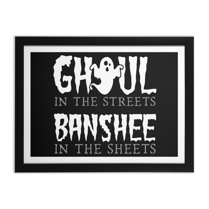 Banshee in the sheets Home Framed Fine Art Print by Ninth Street Design's Artist Shop