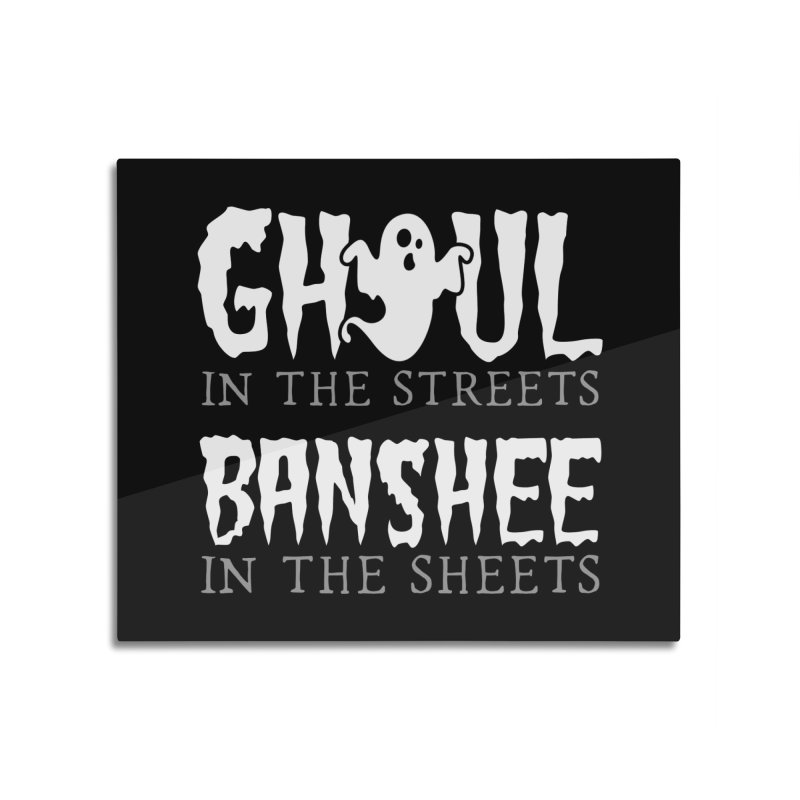 Banshee in the sheets Home Mounted Aluminum Print by Ninth Street Design's Artist Shop