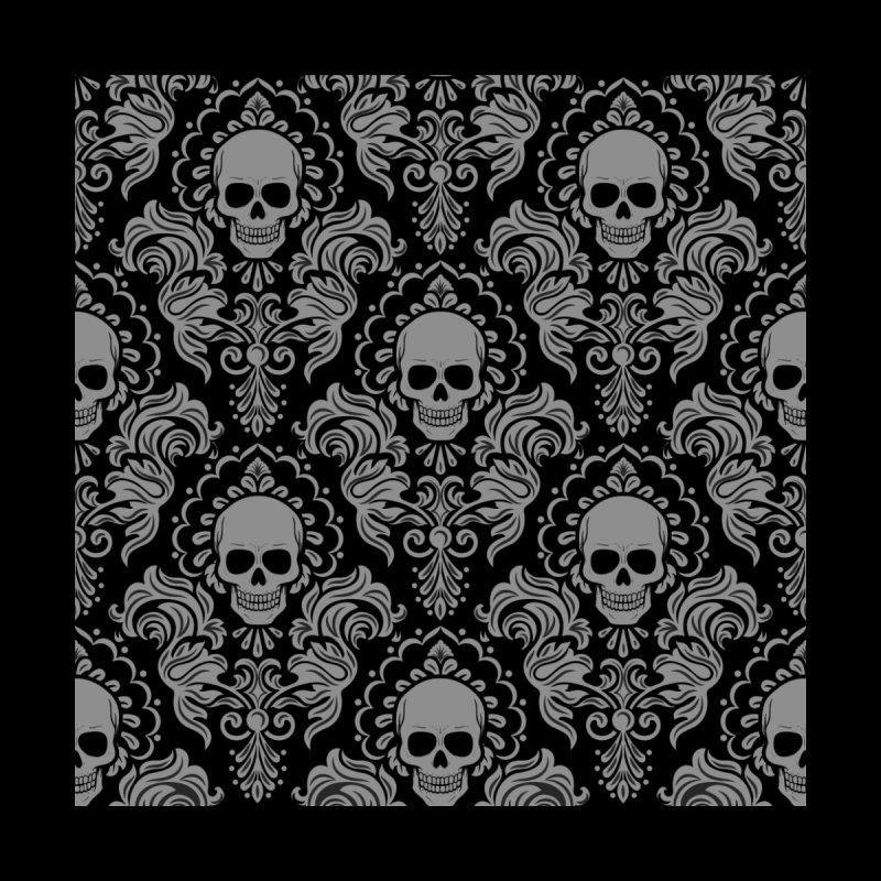 Skull Damask by Ninth Street Design's Artist Shop