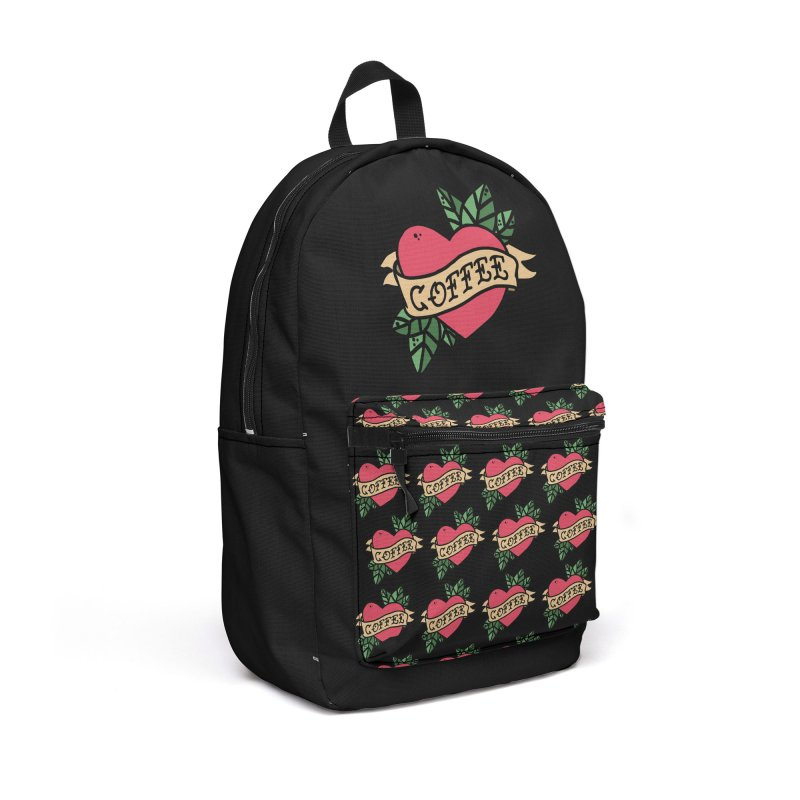 Hardcore Coffee Accessories Backpack Bag by Ninth Street Design's Artist Shop