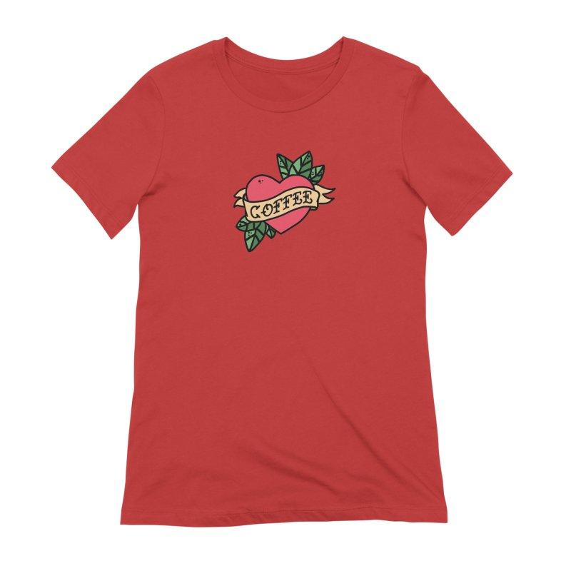 Hardcore Coffee Women's Extra Soft T-Shirt by Ninth Street Design's Artist Shop