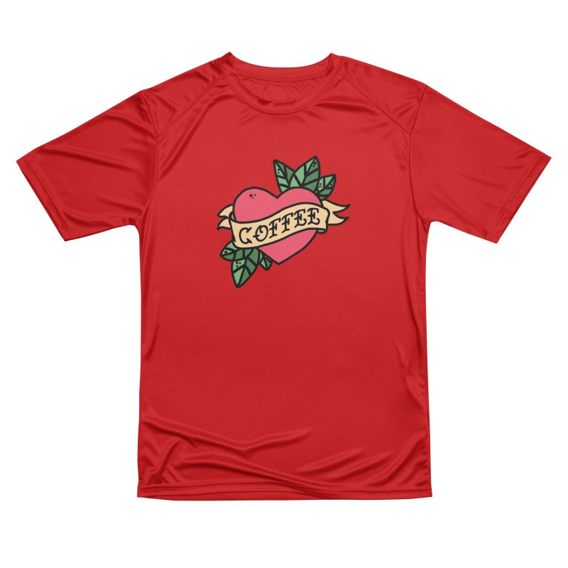 Hardcore Coffee Men's Performance T-Shirt by Ninth Street Design's Artist Shop