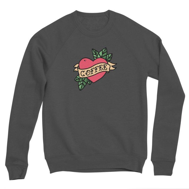 Hardcore Coffee Men's Sponge Fleece Sweatshirt by Ninth Street Design's Artist Shop