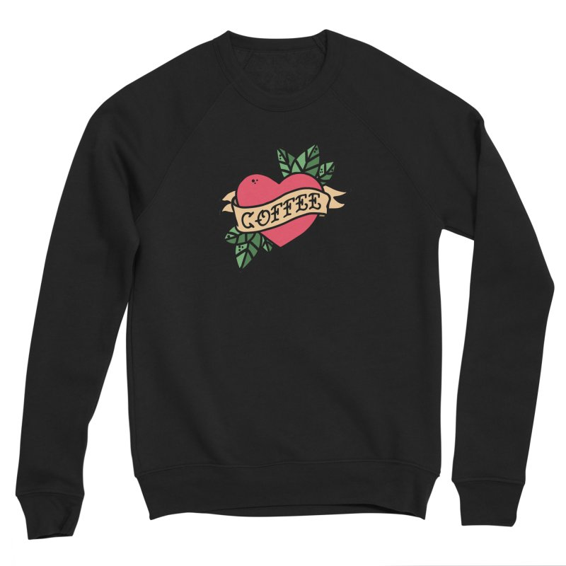 Hardcore Coffee Women's Sponge Fleece Sweatshirt by Ninth Street Design's Artist Shop