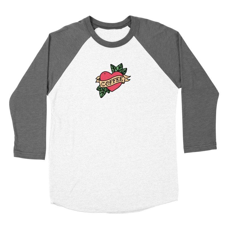 Hardcore Coffee Men's Baseball Triblend Longsleeve T-Shirt by Ninth Street Design's Artist Shop