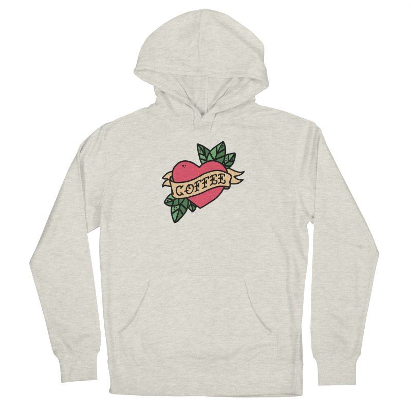 Hardcore Coffee Women's French Terry Pullover Hoody by Ninth Street Design's Artist Shop