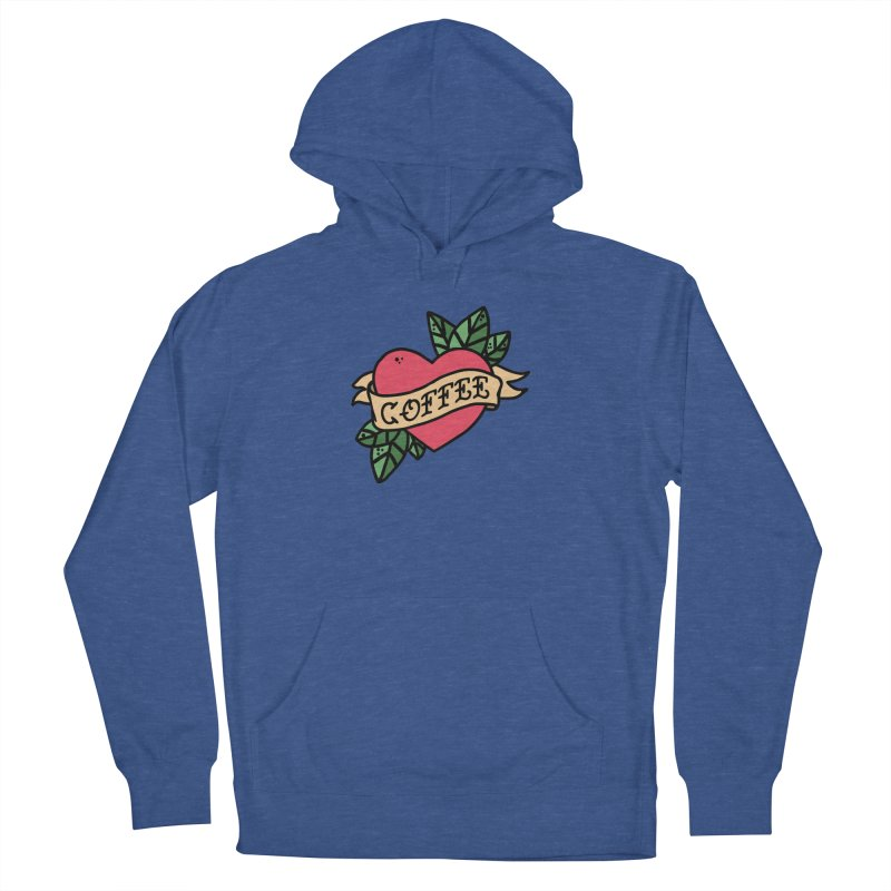 Hardcore Coffee Men's French Terry Pullover Hoody by Ninth Street Design's Artist Shop