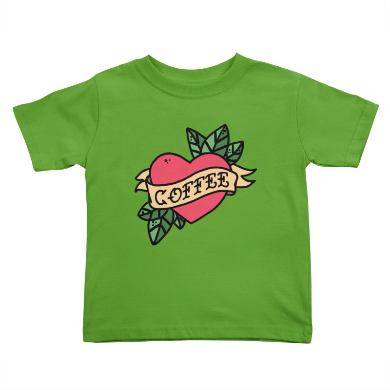 Hardcore Coffee Kids Toddler T-Shirt by Ninth Street Design's Artist Shop