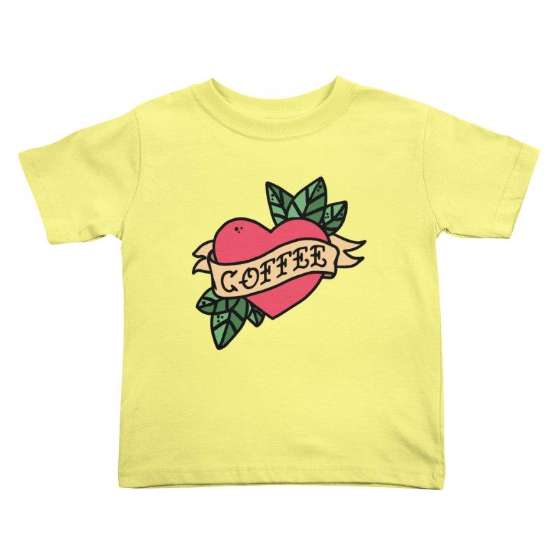 Hardcore Coffee Kids Toddler T-Shirt by Ninth Street Design's Artist Shop