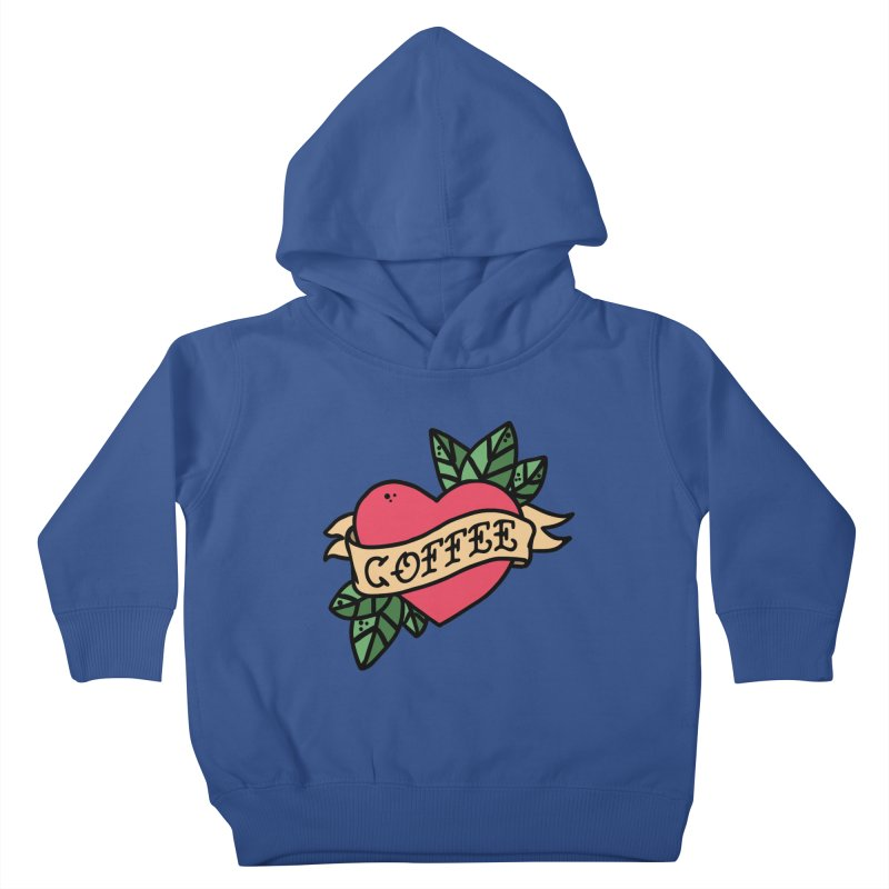Hardcore Coffee Kids Toddler Pullover Hoody by Ninth Street Design's Artist Shop