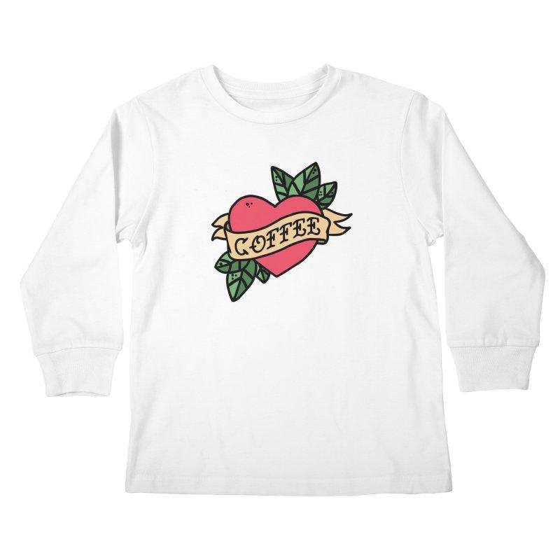 Hardcore Coffee Kids Longsleeve T-Shirt by Ninth Street Design's Artist Shop