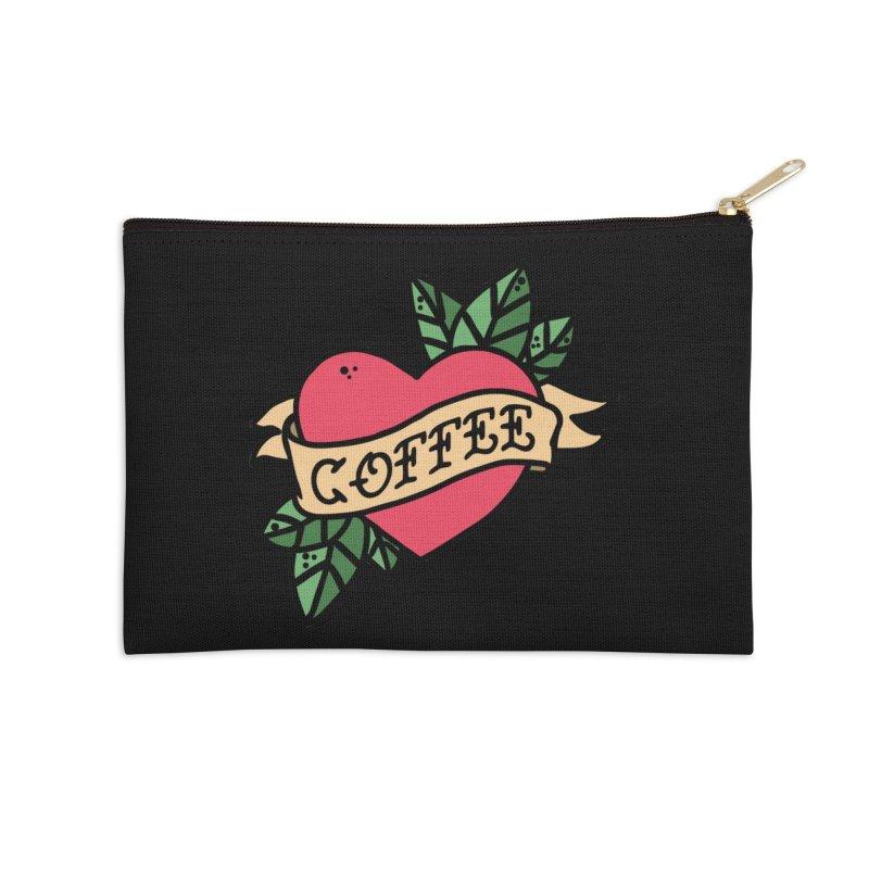 Hardcore Coffee Accessories Zip Pouch by Ninth Street Design's Artist Shop