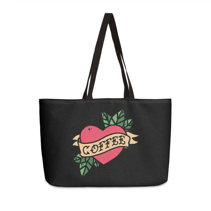 Hardcore Coffee Accessories Weekender Bag Bag by Ninth Street Design's Artist Shop
