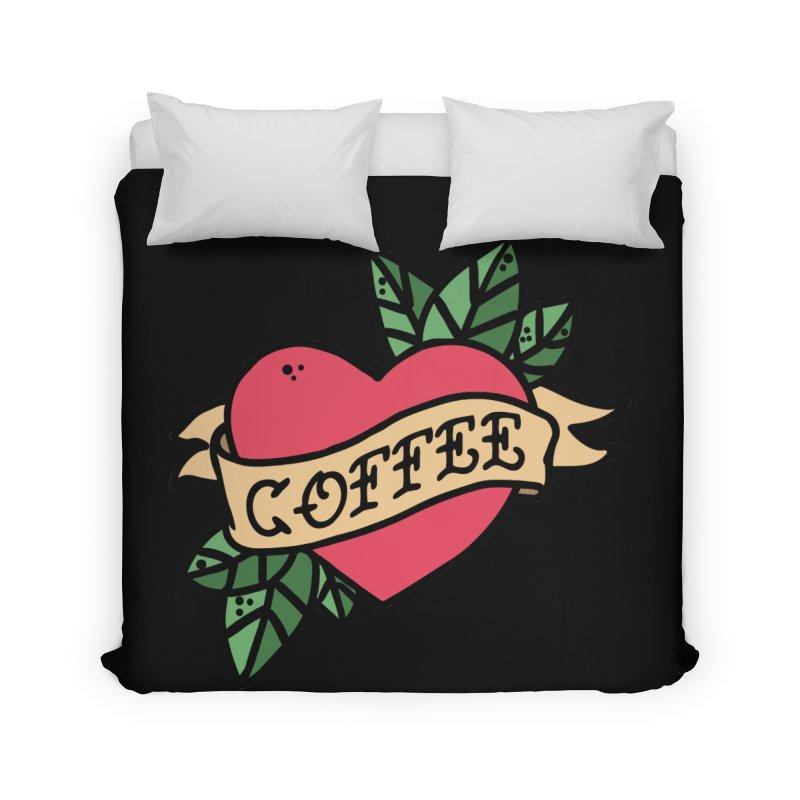 Hardcore Coffee Home Duvet by Ninth Street Design's Artist Shop