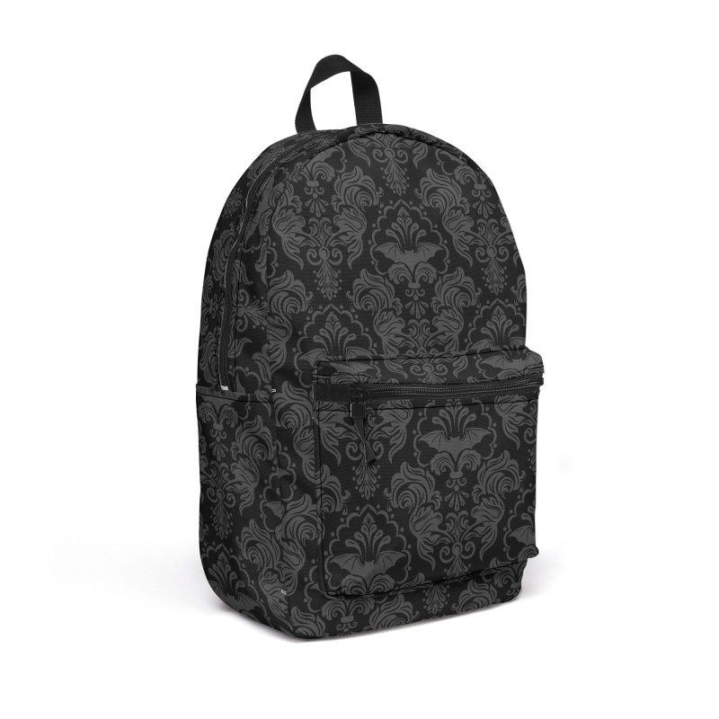 Bat Damask Accessories Backpack Bag by Ninth Street Design's Artist Shop