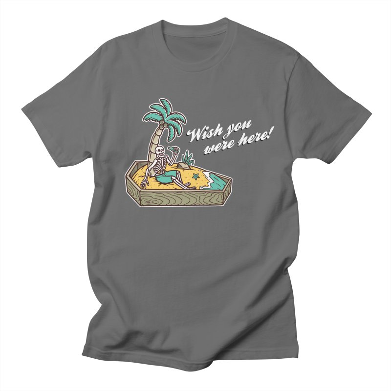 Wish You Were Here Men's T-Shirt by Ninth Street Design's Artist Shop