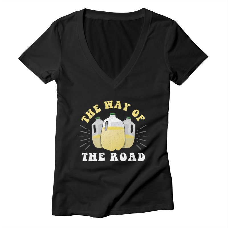 The Way of the Road Women's V-Neck by Ninth Street Design's Artist Shop