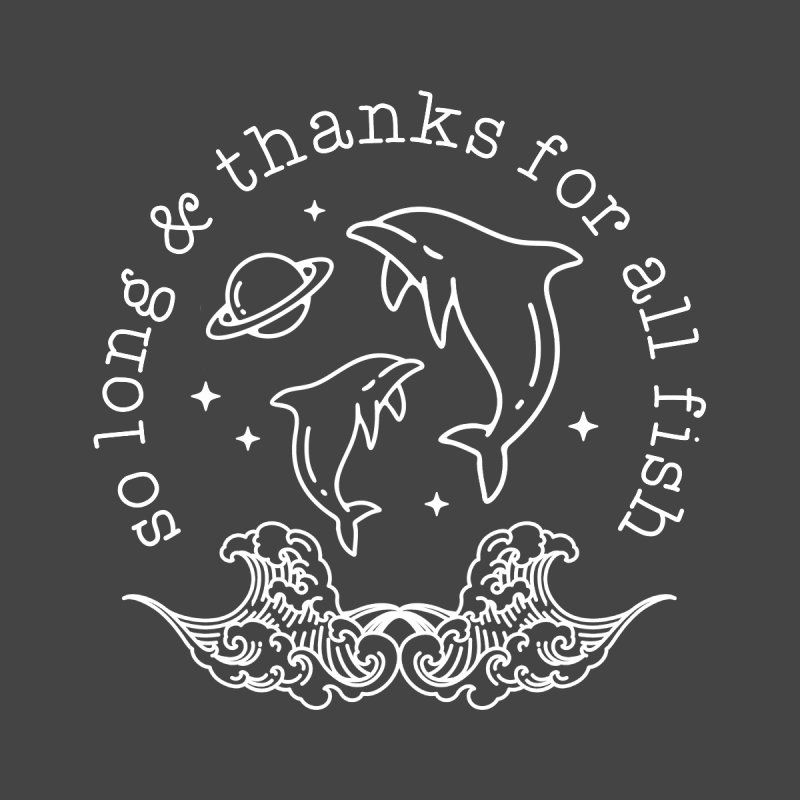 So long and thanks for all the fish Home Blanket by Ninth Street Design's Artist Shop